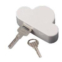 neuheit magnetschlüsselhalter großhandel-Kreative Neuheit Home Storage Halter Weiß Wolke Form Magnetische Magneten Schlüsselhalter Glückliche Geschenke Hohe Qualität