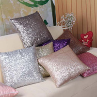 Wholesale Pillows Wholesale - High-Density Sequin Pillow Covered Fashionable Cushion Covers Magical Color Changing Bright Pillow Shams Decorative Pillow Covers