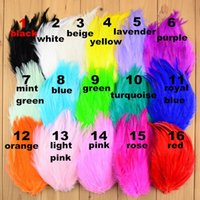 Wholesale curly feather pads wholesale - Wholesale 100pcs lot Chic Curly Feather Pads For Headbands Unfinished hair accessories 16 Colors for choose Free Shipping TH18