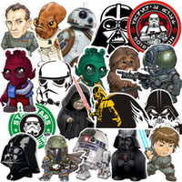 Murals sporting life sales - Star Wars Stickers Waterproof Wall Decals Mobile Phone Modeling Sticker Skateboard Notebook Boot Paster Design Sense Hot Sale xq A R