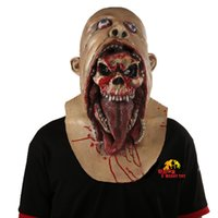 Venda por atacado - X-MERRY feio terrível horror Halloween Burp Charlie estilo Halloween Latex máscaras com luxo de luxo Halloween Costume Devil Men
