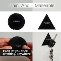 Wholesale Small Wall Hooks - Magical Reuseable Fixate Gel Pads Practical Hook Up Wall Stickers Universal Strong Adhesive Black Sticker Moveable For Home 3 5fr3
