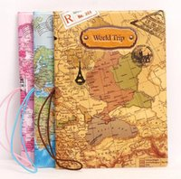 New World Map Map Travel Passport Covers for Men Sac à bandoulière En cuir PVC Porte-passeport Porte-passeport