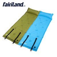 Wholesale Outdoor Family Activities - Single lightweight self-Inflating deflating sleeping pads with pillow air mat mattress moisture proof camping mat for all outdoor activity