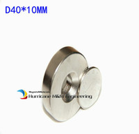Wholesale neodymium disc magnets hole for sale - Group buy 10pcs Countersunk Hole Magnet Diameter x10 mm Thick M8 Screw Countersunk Hole Neodymium Rare Earth Permanent Magnet