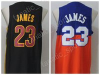 Wholesale Irish Style - 2017 New Style 23 LeBron James Jersey TUNESQUAD Movie St. Vincent Mary High School Irish Throwback James Basketball Jerseys Black Orange