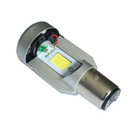 Nouvelle LED 20W * 2 2000LM * 2 Hi / Lo Beam DC12V 6500K BA20D Plug Led Moto Lampes phares Moped Scooter Motobike Headlamp
