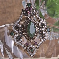 Wholesale Turkish Jewellery Wholesale - Wholesale- Blucome New Arrival Promotion Flower Brooches Pins Royal Design Turkish Jewelry Acessorios para mulher Women Day Crown Jewellery