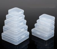 Wholesale Small Box Transparent - Transparent Storage Boxes Chip Placed Plastic Case Small Cale Thing Packing Box Made Of PP Material Handily Collections Container 2b Rc D