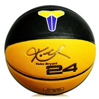 Wholesale Lakers Kobe basketball Kobe Bryant signature yellow black Indoor outdoor PU particles Antiskid wear resistance basketball ball size