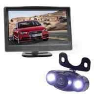 Wholesale Night View System - 5inch Rear View Monitor Car Monitor + LED Night Vision Car Camera Rear View Camera Parking System Kit