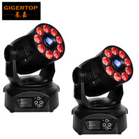 Wholesale Wheels Wholesale Prices - Discount Price 2 Pack 200W Led Moving Head Spot Wash 2in1 Light 75W White+9*12W RGBWA Purple LEDS Mini Rotate Gobo Color Wheel
