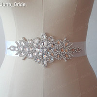 Wholesale Accessories Belts Wedding Sashes - Real Photo Free Shipping Custom Made Exquisite Heavy Beading Rhinestone Crystals Wedding Belt For Bridal Wedding Accessory Wedding Sashes