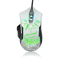 Whosele K-RAY M728 Mouse Game USB del PC Gaming Mouse, USB Wired 2000 DPI per PC Mouse portatile del gioco Supporto 4 livello White Switch
