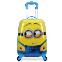 "Wholesale Trolley Luggage Bags For Girls - Cartoon Car 18"" Inch Boy's Travel Luggage Suitcase Travel Trolley Case kids Rolling Case Wheeled Case for boys Kids Trolley Bag"