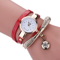 Wholesale Dragonfly Wind - The new fashion lady three coil winding big dragonfly drill multicolor band selling hot style female table