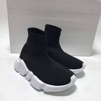 Wholesale Kids Fashion Boots - Fashion Baby Kids Socks Boots Children Athletic Shoes Slip-On Casual Flats Shoes Speed Trainer High-Top Running Shoes Black Grey Blue Red