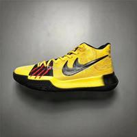 Wholesale Pvc Logos - Kyrie 3 Mamba Mentality Bruce Lee Men Basketball Shoes Sneakers Yellow Black Baskertball Shoes Sports Shoes Authentic Quality Kobe Logo