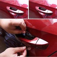 Wholesale Invisible Door Handle - 4pcs lot Universal Invisible Car Door Handle Stickers Car Handle Decals 9.5cm*8.5cm*4 Car Sticker Protection