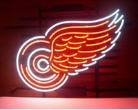 Red Wings Neon Sign Hecho a mano de encargo Real Glass Tube Outdoor Logo Display Publicidad Letreros de neón de luz 17