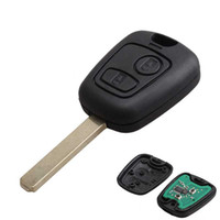 2Buttons Car Styling Remote Key Keyless para Peugeot 307 Citroen C1 C3 VA2 Blade 433MHZ