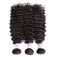 10A Indian Virgin Hair Deep Wave 100% Cabelo Humano Weave 3 OR 4 Bundles Indian Deep Curly Remy Cabelo Deep Wave Natural Color 10-28 INCH