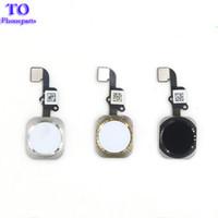 iphone ev düğmesi esnek toptan satış-10 ADET YENI Ana Düğme Flex Şerit Kablo Montaj iphone 5 S 6 6 Artı 6 S Artı Onarım bölümü Ücretsiz nakliye