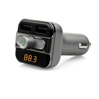 Wholesale Car Stereo Adaptors - New BT20 Multifunction 4-in-1 Bluetooth Car Radio Adaptor Handsfree FM Transmitter MP3 Music Player 5V 3.4A Dual USB Car charger
