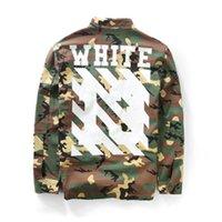 Wholesale Mens Designer Winter Jackets - 2017 mens off white jacket autumn 1: 1 brand winter designer korean clothes coat kryptek camouflage camo army military