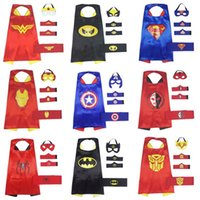 Superheld Cartoon Cape Maske, Armband Gürtel Dressing Up Kostüme für Kinder, Comic Cartoon Geburtstagsfeier Spiel Zubehör für Junge und Mädchen