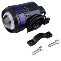 ingrosso luci motorizzate-Catuo 1 xUniversal Black Shell U3 LED 30W Motor Bike Faro del motociclo Luce Spot Angel Eye