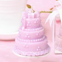 Wholesale Birthday Cake Shaped Candle - Wedding Favors Party Gifts Heart Cake Shape Pink Candles Wedding Favors Decoration Valentine Party Baby Shower Gifts Birthday Cake Candles
