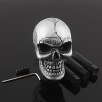 Wholesale Lexus Shift - Universal Manual Car Gear Stick Shifter Knob Shift Lever Carved Skull Silver New