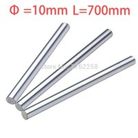 Wholesale X Axis Linear - Wholesale- 2pcs 10mm 10x700 linear shaft 3d printer 10mm x 700mm Cylinder Liner Rail Linear Shaft axis cnc parts