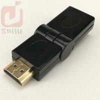 cable hdtv de la computadora al por mayor-HDMI macho a HDMI hembra cable adaptador convertidor extensor 180 grados de ángulo para HDTV Ordenador de la cámara proyector hdmi adaptador 100ps / lot