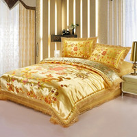 Wholesale Dragon Comforter King Size - New Arrival Chinese Style Wedding Bedding Set Dragon Design Luxury Bedding Sets Printed Bedclothes Queen Size