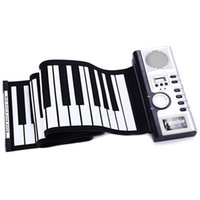 61 Keys Silicone Flexible Roll-Up Piano Roll Up Piano MIDI Electronic Keyboard Hand Roll Portable