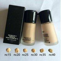светящаяся жидкая основа оптовых-New 1pcs Soft Matte MAKE UP LUMINOUS MINERALIZE Foundation makeup liquid Foundation Base 6 Shadows Maquiagem