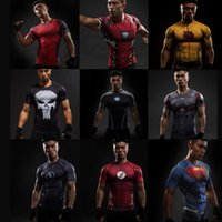 Wholesale Marvel T - 2017 sports fan new sports marvel marvel avengers superhero iron man T-shirt 3D printed T-shirt men's short-sleeved