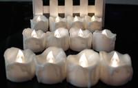 батареи для светодиодных свечей оптовых-Led Drop Tear Candle Tealight Свет Лампы Беспламенного Чрезвычайных Рождество Свадьба День Рождения Декор Свечи На Батареи белый сувениры