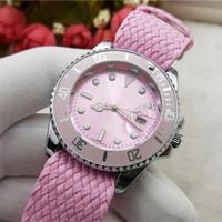Wholesale New Arrival Wrist Watch - New arrival Men's Women Classic Watches Luxury Brand Designer Quartz Wrist watch Nylon Strap Automatic Date Fashion Clock Valentine Gift