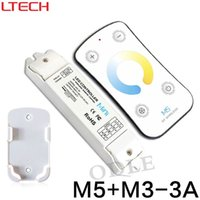 Wholesale temperature controller wireless - M3-3A DC12V 24V 3Ax3CH 9A Color Temperature Adjustable Dimmer Mini Controller + M5 RF Wireless Remote for Dual White LED Strips