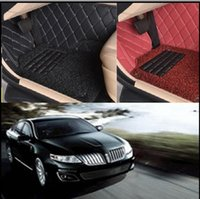 Wholesale Eco Leather - Lincoln MKS Car Floor Mats 2015 ( ECO-Friendly XPE Leather 5D Diamond Stitching Designed) No Smell car mats