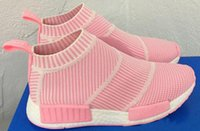 Wholesale Cycling Socks Cheap - 2017 high Quality NMD Runner Primeknit pk City Sock Men Women sneakers nmd Breathable Running Shoes NMD Sport Shoes boost eur 36-44 cheap