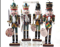30cm Nussknacker Soldaten Puppe Großhandel 4pc Retro Nussknacker Marionetten Soldaten kreative Zeichen Home Furnishing Desktop Dekoration soft de