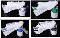Wholesale Cotton Fabric Prints - 2017 Factory Wholesale Classic casual shoes new stan shoes fashion smith sneakers casual leather men women sport running shoes