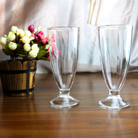 Wholesale Decoration Shop - Crystal Glass Transparent High White Material Glass for Ice Cream Milk tea shop Cup Household Items 80 * 70 * 180mm 472g
