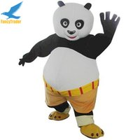 Wholesale Kung Fu Panda Outfit - Kung Fu Panda Mascot Costume Birthday Party Fancy Dress Outfit Adult Size Free Shipping Accept Drop Shipping