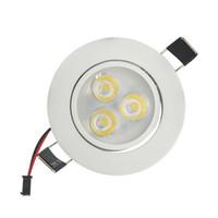 luz empotrada cocina al por mayor-3W Empotrable LED Downlight AC110V / 220V Blanco Shell Baño Cocina Iluminación interior Spot LED Accesorios de luz Led para el hogar