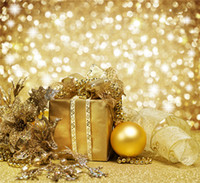 Wholesale Happy New Year Gift Boxes - Sparkling Polka Dots Photo Backdrops Bokeh Christmas Holiday Printed Exquisite Gift Box Gold Ball Happy New Year Photography Background